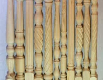 Балясины точеные и фрезированные