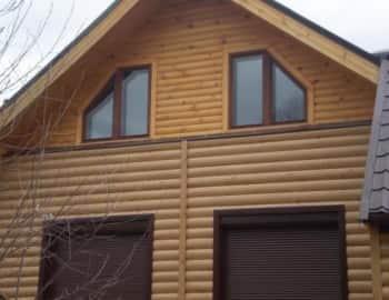 Фасад из лиственницы