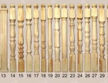 столб для лестницы деревянный