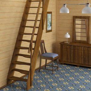 Лестница деревянная «Тайга 6»