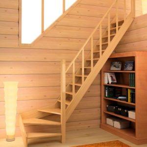 Лестница деревянная «Тайга 14»