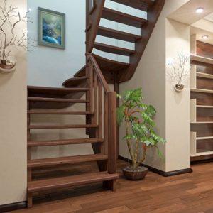Лестница деревянная «Тайга 24»
