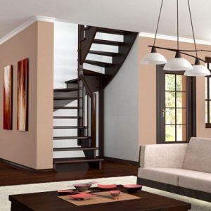 Лестница деревянная «Тайга 25»