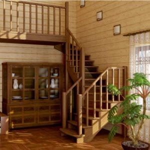 Лестница деревянная «Тайга 28»